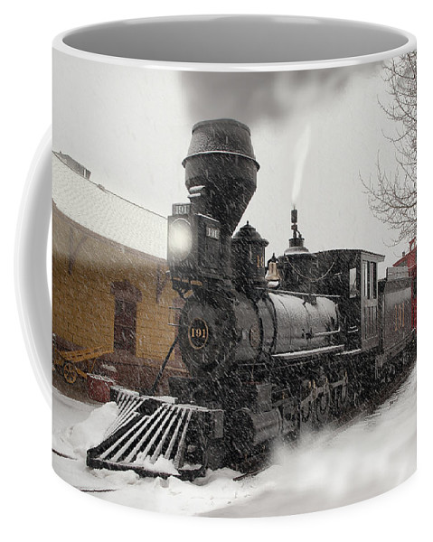 Dsp&p Coffee Mug featuring the photograph Arriving by Ken Smith