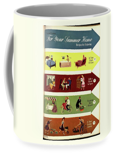 Illustration Coffee Mug featuring the photograph Arrows And Illustrations by William Bolin