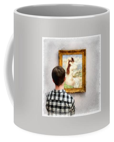 Boy Coffee Mug featuring the photograph Art Appreciation by Edward Fielding