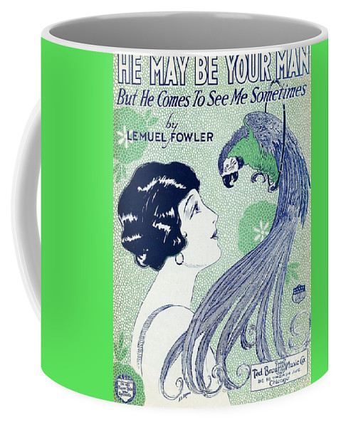 Pd Coffee Mug featuring the painting Art Deco Poster by Pg Reproductions