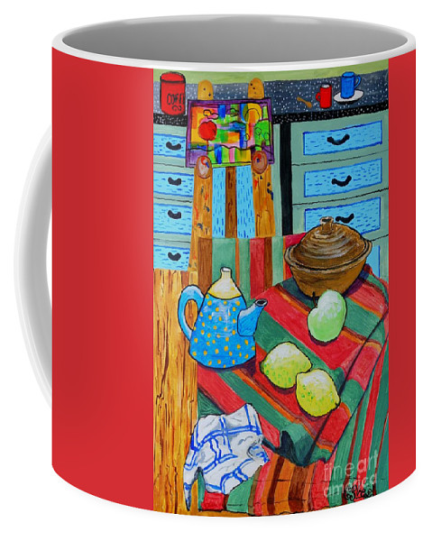 Still Life Coffee Mug featuring the painting Art In The Kitchen by Caroline Street