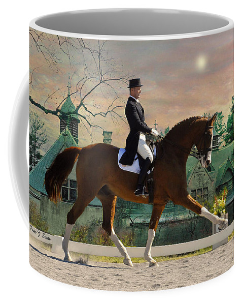 Horses Coffee Mug featuring the photograph Art Of Dressage by Fran J Scott