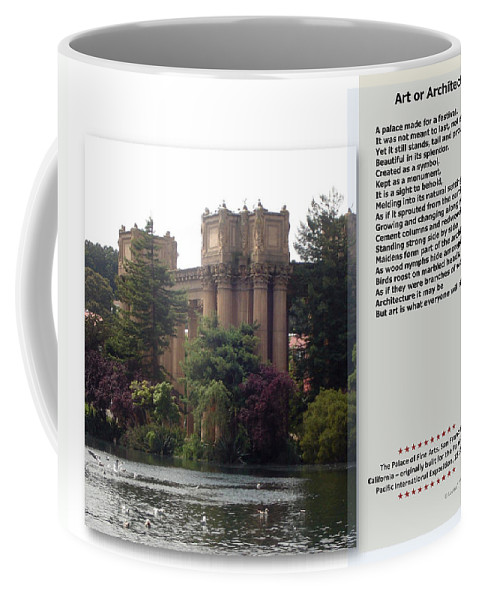 Art Coffee Mug featuring the mixed media Art Or Architecture? by Lovina Wright