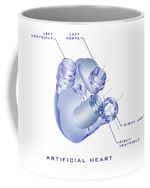 Sunrise Coffee Mug featuring the painting Artificial Heart by James Christopher Hill