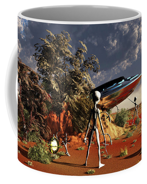 Horizontal Coffee Mug featuring the photograph Artist Concept Of The Roswell Incident by Mark Stevenson