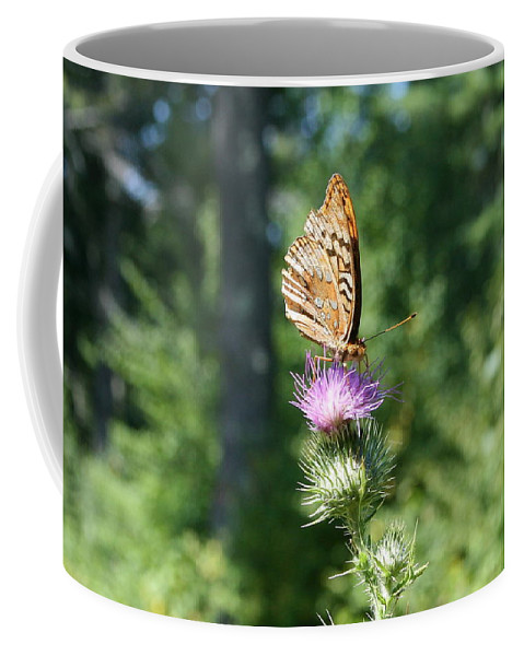 Nature Coffee Mug featuring the photograph Artistic Butterfly Stand by Neal Eslinger
