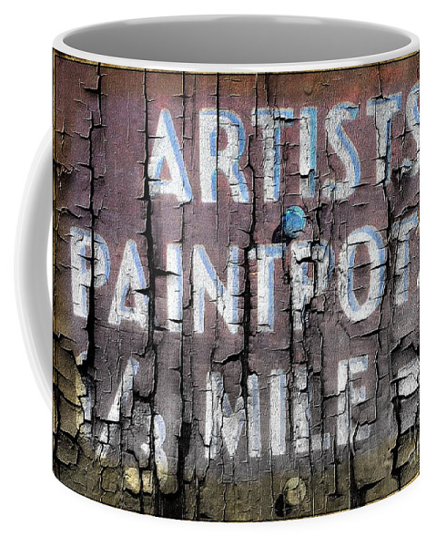 Artist Coffee Mug featuring the photograph Artists' Paintpots Sign by Kathleen Struckle