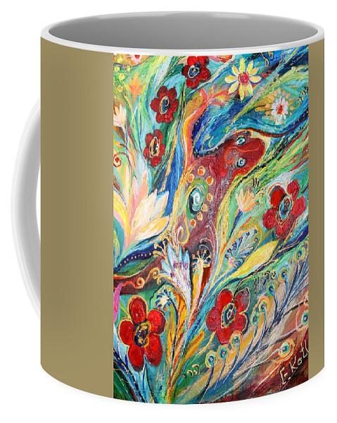 Jewish Art Prints Coffee Mug featuring the painting Artwork Fragment 22 by Elena Kotliarker