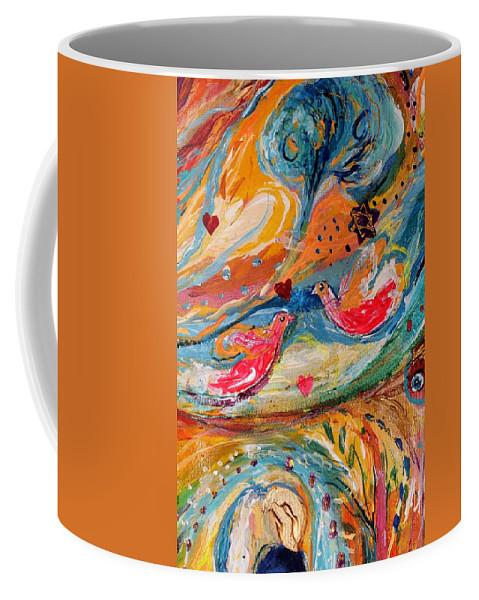 Jewish Art Prints Coffee Mug featuring the painting Artwork Fragment 24 by Elena Kotliarker