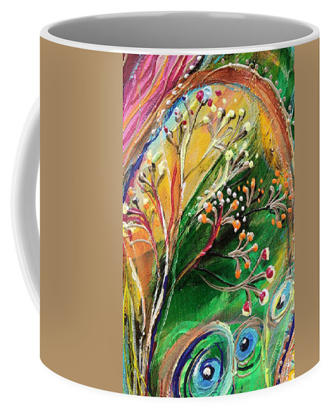 Jewish Art Prints Coffee Mug featuring the painting Artwork Fragment 48 by Elena Kotliarker