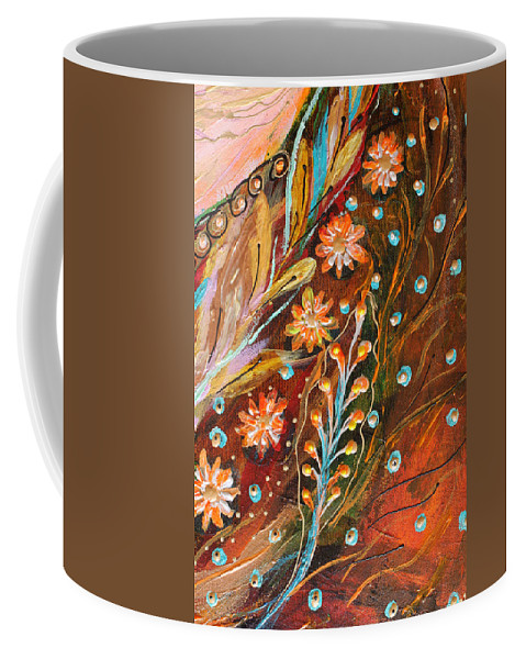 Jewish Art Prints Coffee Mug featuring the painting Artwork Fragment 49 by Elena Kotliarker