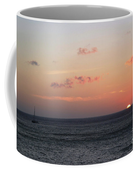 Sunset Coffee Mug featuring the photograph Aruba Sunset by Living Color Photography Lorraine Lynch