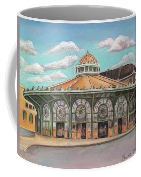 Carousel House Coffee Mug featuring the painting Asbury Park Carousel House by Melinda Saminski