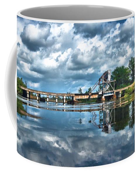 Water Coffee Mug featuring the photograph Ashepoo Train Trestle by Scott Hansen