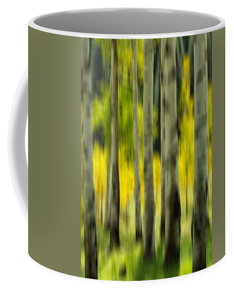 Aspen Coffee Mug featuring the photograph Aspen Abstract by Nathan Gingles