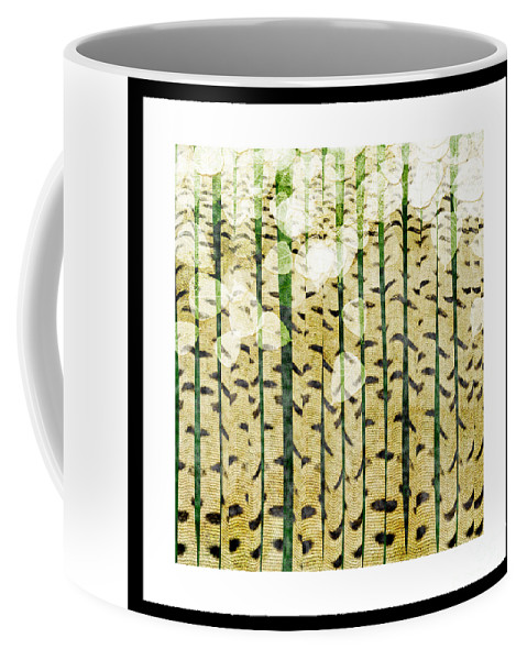 Abstract Coffee Mug featuring the digital art Aspen Colorado Abstract Square 3 by Andee Design