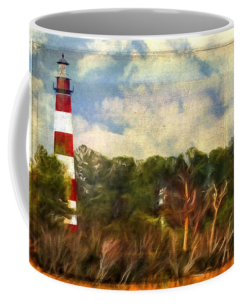 Lighthouse Coffee Mug featuring the photograph Assateague Lighthouse by Alice Gipson