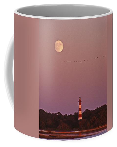 Lighthouse Coffee Mug featuring the photograph Assateague Lighthouse Va by Skip Willits