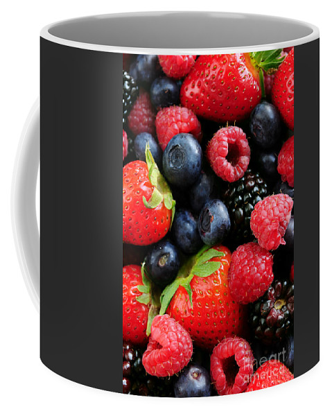 Berry Coffee Mug featuring the photograph Assorted Fresh Berries by Elena Elisseeva