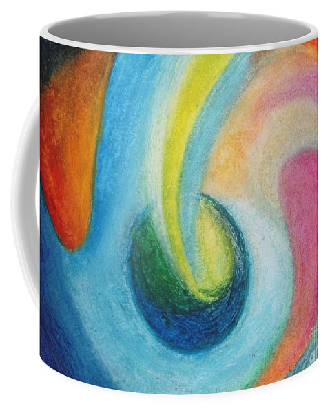 Earth Coffee Mug featuring the painting Astral Projection by Vesna Antic