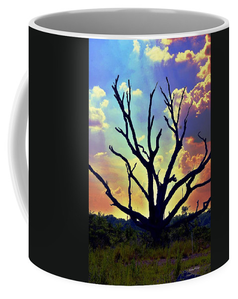 At Life's End There Is Light Coffee Mug featuring the digital art At Life's End There Is Light by Maria Urso