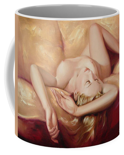 Oil Coffee Mug featuring the painting At Rest by Sergey Ignatenko