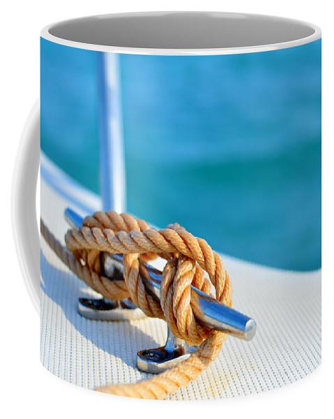 Laura Fasulo Coffee Mug featuring the photograph At Sea by Laura Fasulo