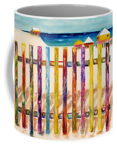 Beach Coffee Mug featuring the painting At The Beach by Frances Marino