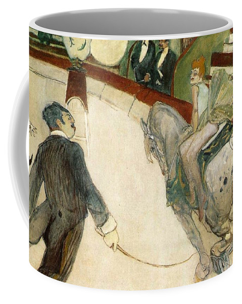 1888 Coffee Mug featuring the painting At The Circus Fernando by Toulouse-Lautrec