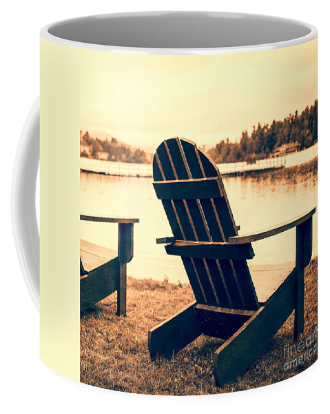 Pillow Coffee Mug featuring the photograph At The Lake Square Format by Edward Fielding