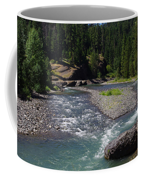 Scenery Coffee Mug featuring the photograph At The River's Heart by Mike and Sharon Mathews