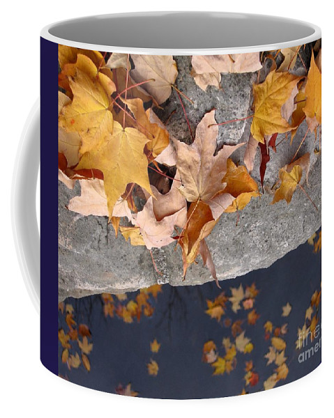 Leaf Coffee Mug featuring the photograph At Water's Edge by Ann Horn