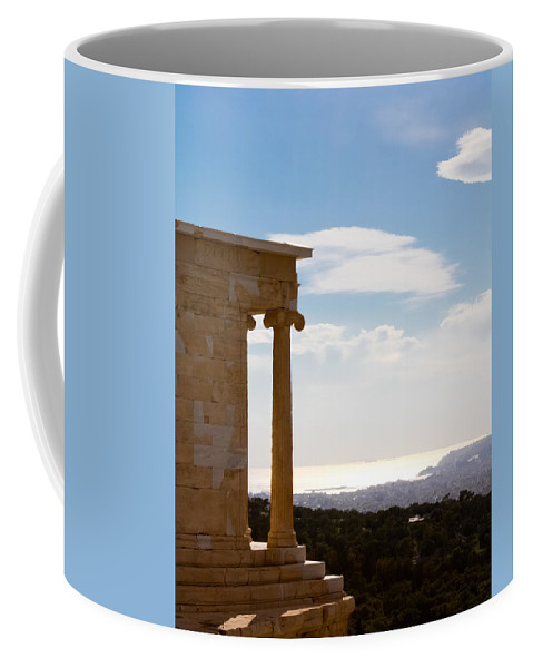 Athens Coffee Mug featuring the photograph Athens And The Sea From The Acropolis by Anthony Doudt