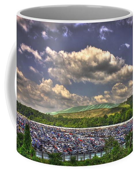 Environmental Trash Coffee Mug featuring the photograph Atlanta Leftovers by Reid Callaway