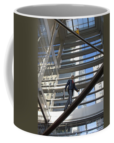 Philadelphia Coffee Mug featuring the photograph Atrium Art by Ann Horn