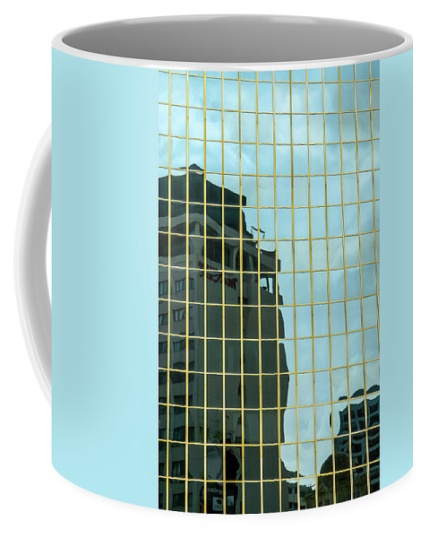 Architecture Coffee Mug featuring the photograph Auckland Reflection by Mark Llewellyn