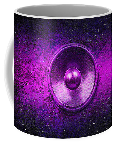Background Coffee Mug featuring the digital art Audio Purple by Steve Ball