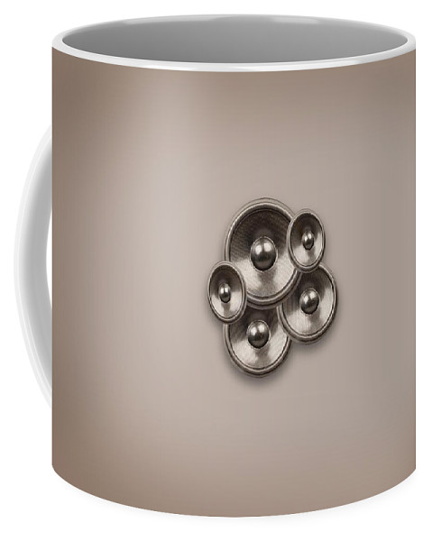 Background Coffee Mug featuring the digital art Audio Retro 2 by Steve Ball