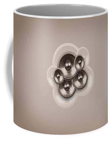 Background Coffee Mug featuring the digital art Audio Retro 3 by Steve Ball