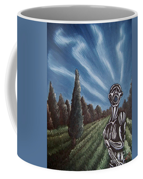 Tmad Coffee Mug featuring the painting Aurora by Michael TMAD Finney