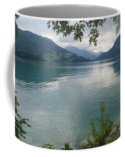 Water Coffee Mug featuring the photograph Austrian Lake by Carol Groenen