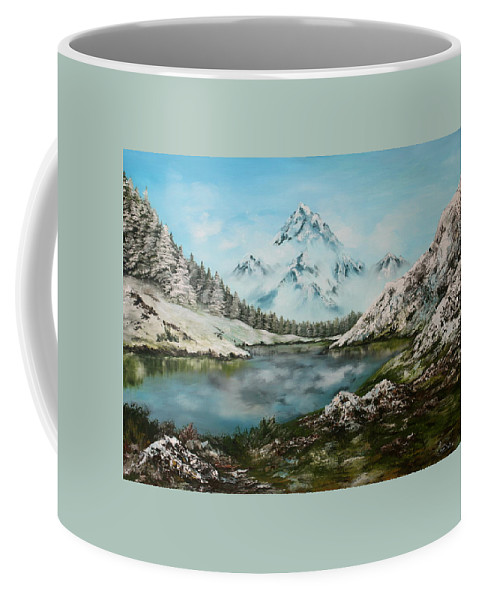 Oil Painting Coffee Mug featuring the painting Austrian Lake by Jean Walker