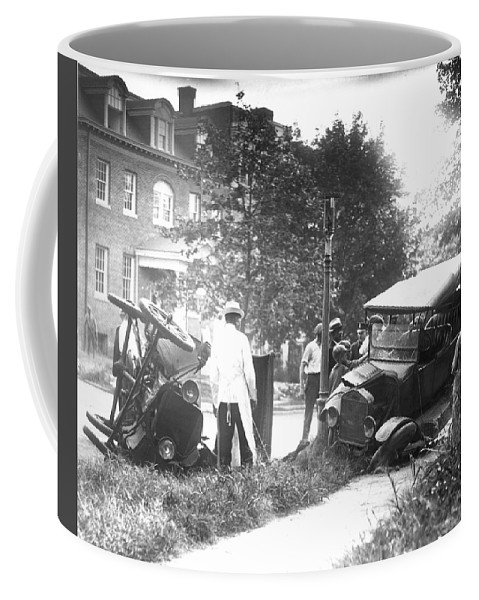 1910 Coffee Mug featuring the photograph Auto Accident by Granger