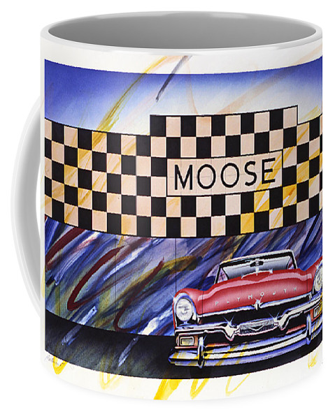 Automart Coffee Mug featuring the painting Automart by Charles Stuart