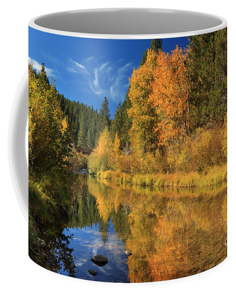 Autumn Coffee Mug featuring the photograph Autumn Along The Susan River by James Eddy