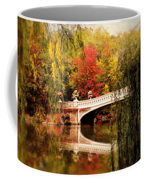 Bow Bridge Coffee Mug featuring the photograph Autumn At Bow Bridge by Jessica Jenney