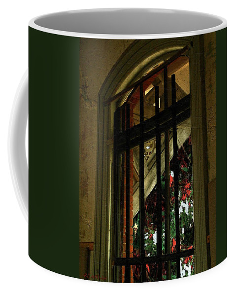 Window Coffee Mug featuring the painting Autumn At The Old Sanitarium by RC DeWinter