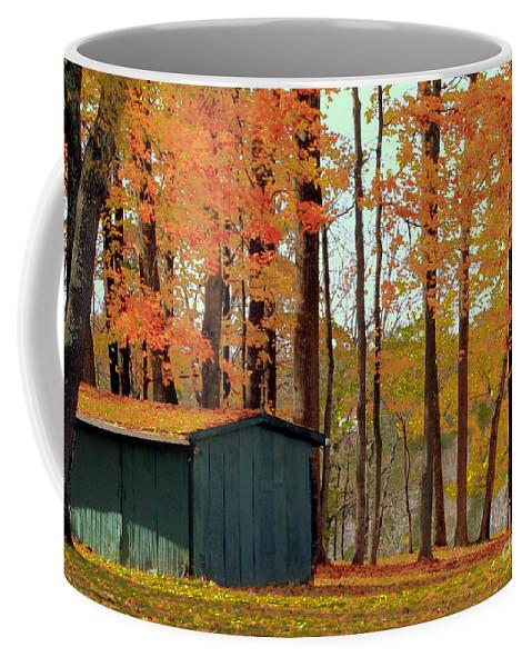 Barn Coffee Mug featuring the photograph Autumn Barn by Catherine Balfe