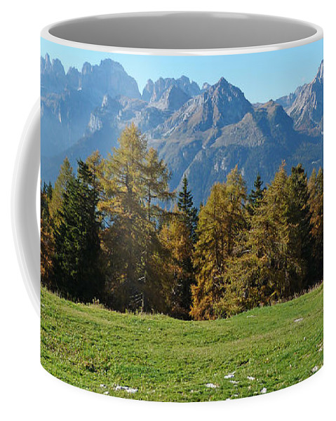 Brenta Dolomites Coffee Mug featuring the photograph Autumn - Brenta Dolomites by Phil Banks