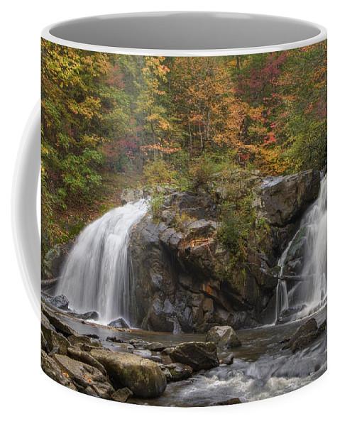 Appalachia Coffee Mug featuring the photograph Autumn Cascades by Debra and Dave Vanderlaan